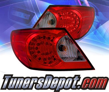 KS® LED Tail Lights (Red/Clear) - 03-05 Chrysler Sebring 4dr.
