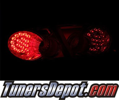 KS® LED Tail Lights (Red/Clear) - 03-05 Mazda 6 4dr