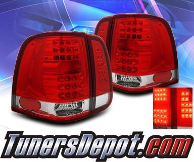KS® LED Tail Lights (Red/Clear) - 03-06 Lincoln Navigator