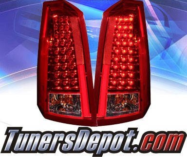 KS® LED Tail Lights (Red/Clear) - 03-07 Cadillac CTS