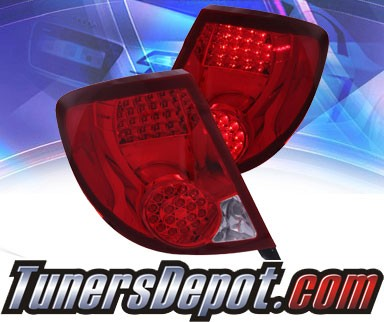 KS® LED Tail Lights (Red/Clear) - 03-07 Saturn Ion 2dr