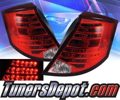 KS® LED Tail Lights (Red/Clear) - 03-07 Saturn Ion 4dr