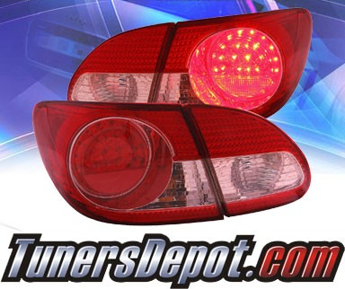 KS® LED Tail Lights (Red/Clear) - 03-08 Toyota Corolla