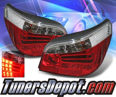 KS® LED Tail Lights (Red/Clear) - 04-07 BMW 550i E60 Sedan