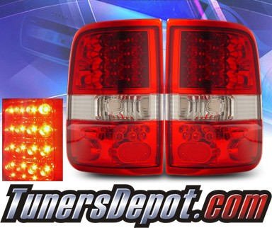 KS® LED Tail Lights (Red/Clear) - 04-08 Ford F-150 F150