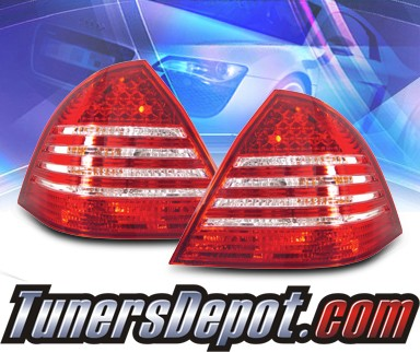 KS® LED Tail Lights (Red/Clear) - 05-07 Mercedes-Benz C240 W203 Sedan