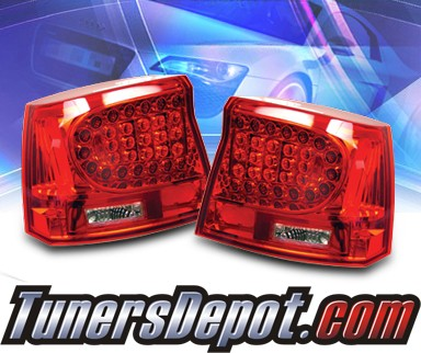 KS® LED Tail Lights (Red/Clear) - 06-08 Dodge Charger