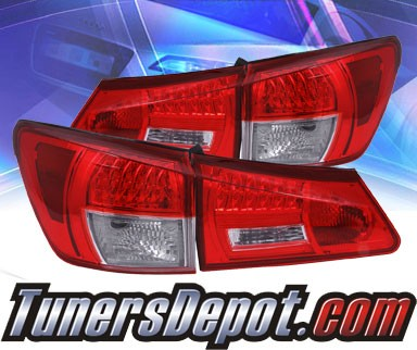 KS® LED Tail Lights (Red/Clear) - 06-08 Lexus IS250