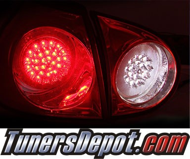 KS® LED Tail Lights (Red/Clear) - 06-09 VW Volkswagen Golf (GTI)