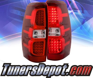 KS® LED Tail Lights (Red/Clear) - 07-08 Chevy Avalanche