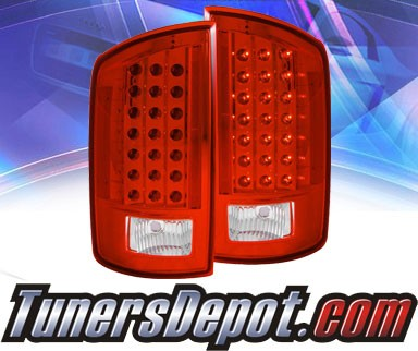 KS® LED Tail Lights (Red/Clear) - 07-08 Dodge Ram Pickup