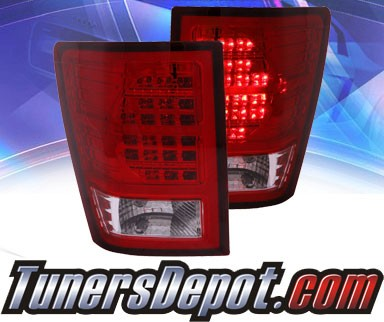 KS® LED Tail Lights (Red/Clear) - 07-09 Jeep Grand Cherokee