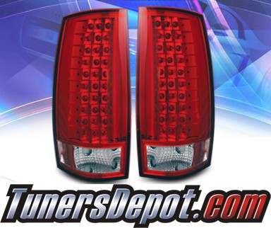 KS® LED Tail Lights (Red/Clear) - 07-10 Chevy Suburban