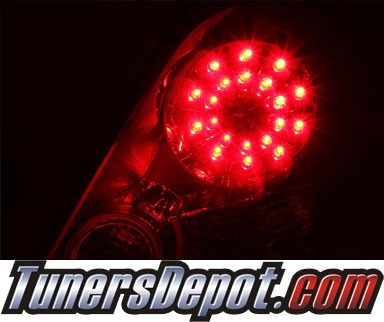 KS® LED Tail Lights (Red/Clear) - 07-10 Nissan Altima 2dr