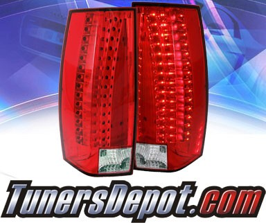 KS® LED Tail Lights (Red/Clear) - 07-11 Cadillac Escalade