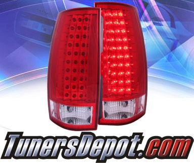 KS® LED Tail Lights (Red/Clear) - 07-13 Chevy Suburban (G4)