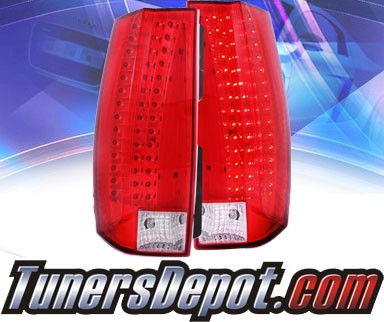 KS® LED Tail Lights (Red/Clear) - 07-13 Chevy Suburban (G5)