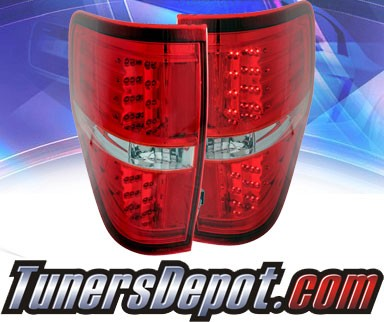 KS® LED Tail Lights (Red/Clear) - 09-13 Ford F150 F-150