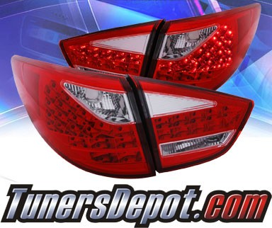 KS® LED Tail Lights (Red/Clear) - 10-11 Hyundai Tucson