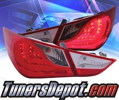 KS® LED Tail Lights (Red/Clear) - 10-13 Hyundai Sonata