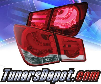 KS® LED Tail Lights (Red/Clear) - 11-15 Chevy Cruze