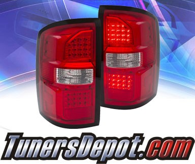 KS® LED Tail Lights (Red/Clear) - 14-15 GMC Sierra