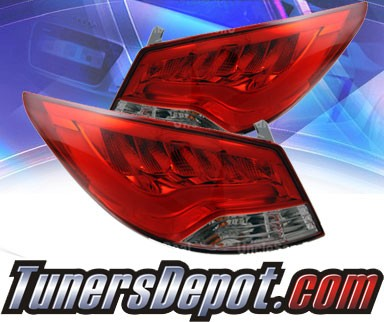 KS® LED Tail Lights (Red/Clear) - 2012 Hyundai Accent