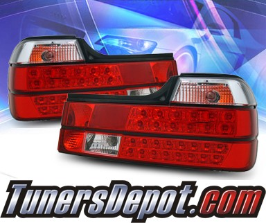 KS® LED Tail Lights (Red/Clear) - 88-94 BMW 750iL E32