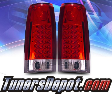 KS® LED Tail Lights (Red/Clear) - 88-98 Chevy Full Size Pickup