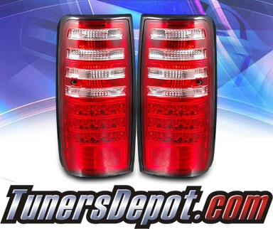 KS® LED Tail Lights (Red/Clear) - 91-97 Toyota Land Cruiser FJ82