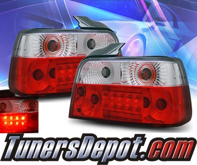KS® LED Tail Lights (Red/Clear) - 92-98 BMW 325i E36 4dr.