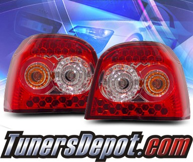 KS® LED Tail Lights (Red/Clear) - 92-98 VW Volkswagen Golf III