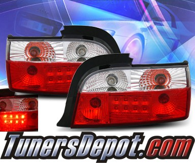 KS® LED Tail Lights (Red/Clear) - 92-99 BMW 323is E36 Convertible