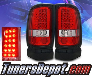 KS® LED Tail Lights (Red/Clear) - 94-01 Dodge Ram