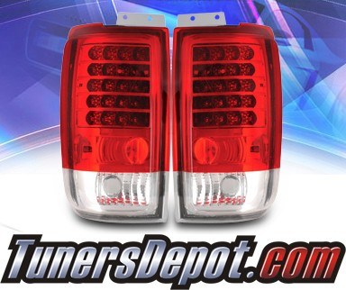 KS® LED Tail Lights (Red/Clear) - 97-02 Ford Expedition