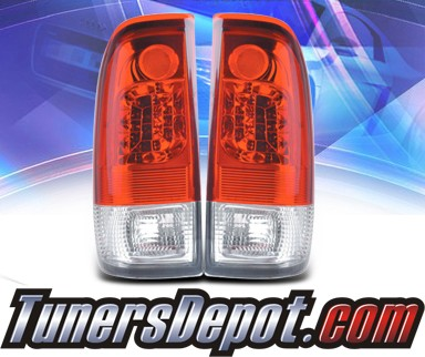KS® LED Tail Lights (Red/Clear) - 97-03 Ford F-150 F150