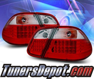 KS® LED Tail Lights (Red/Clear) - 98-02 Mercedes-Benz CLK430 W208