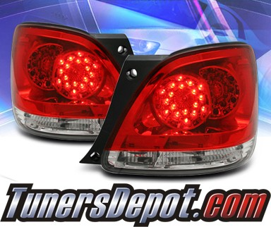 KS® LED Tail Lights (Red/Clear) - 98-05 Lexus GS430