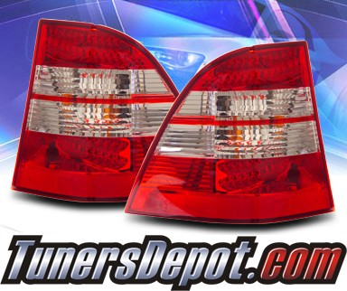 KS® LED Tail Lights (Red/Clear) - 98-05 Mercedes-Benz ML320 W163