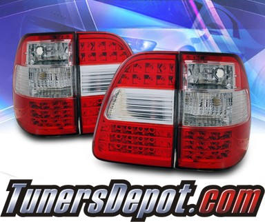 KS® LED Tail Lights (Red/Clear) - 98-05 Toyota Land Cruiser FJ100