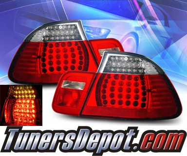 KS® LED Tail Lights (Red/Clear) - 99-01 BMW 323Ci E46 2dr. exc. Convertible