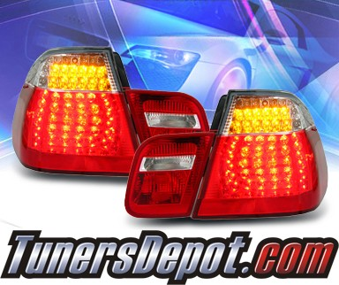 KS® LED Tail Lights (Red/Clear) - 99-01 BMW 328i E46 4dr.