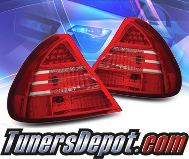 KS® LED Tail Lights (Red/Clear) - 99-02 Mitsubishi Mirage
