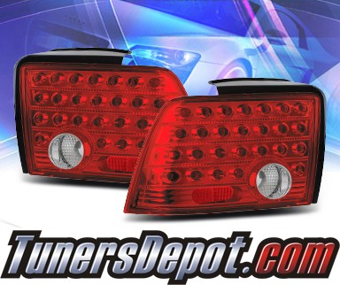 KS® LED Tail Lights (Red/Clear) - 99-04 Ford Mustang