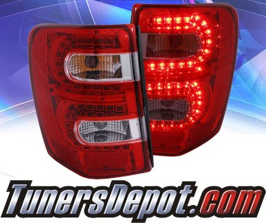 KS® LED Tail Lights (Red/Clear) - 99-04 Jeep Grand Cherokee
