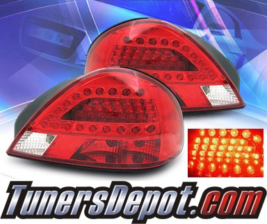 KS® LED Tail Lights (Red/Clear) - 99-05 Pontiac Grand Am