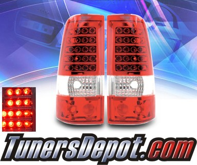 KS® LED Tail Lights (Red/Clear) - 99-06 Chevy Silverado Dualie