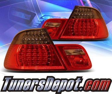 KS® LED Tail Lights (Red/Smoke) - 00-01 BMW 325Ci Convertible E46