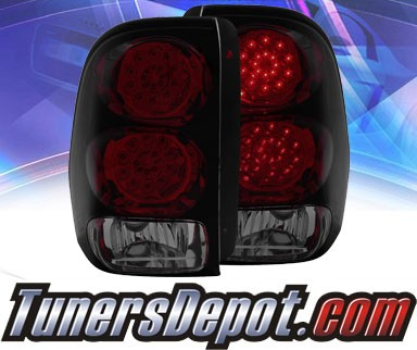 KS® LED Tail Lights (Red/Smoke) - 02-09 Chevy TrailBlazer