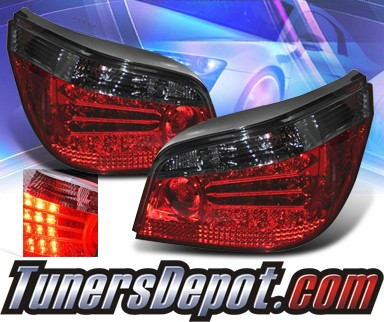 KS® LED Tail Lights (Red/Smoke) - 04-07 BMW 550i E60 Sedan